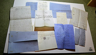 Mix Of  Antique Letters and Notes Dated From 1824 to 1897