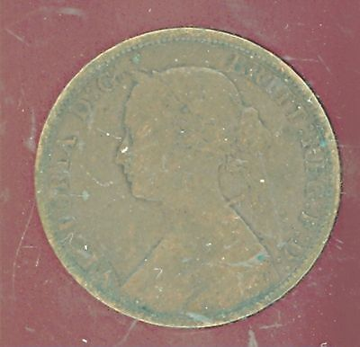 1861 New Brunswick Large Cent  Nice circulated coin  CO739
