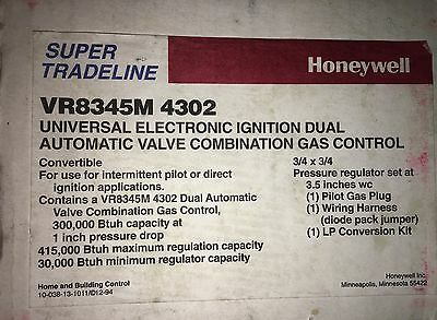 Honeywell VR8300 Series Electronic Ignition Combination Gas Control