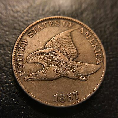 1857 Flying Eagle Cent Choice XF Extremely Fine Large Letters SHARP