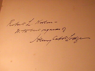 1919 Treaty Of Peace With Germany Wwi Signed By Senator Henry Cabot Lodge Rare