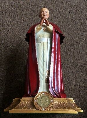 ** Danbury Mint A Papal Blessing Pope John Paul Vi Statue Ornament Antique **