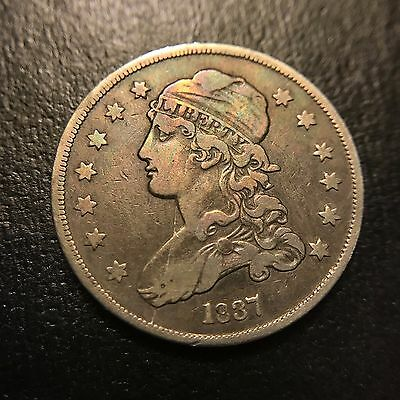 1837 P Capped Bust Quarter Dollar XF Extremely Fine Type Coin 25c