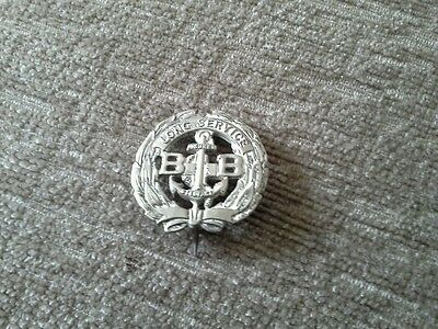 Boys Brigade Five Years Long Service Sleeve Badge In White Metal Clasped To Wear