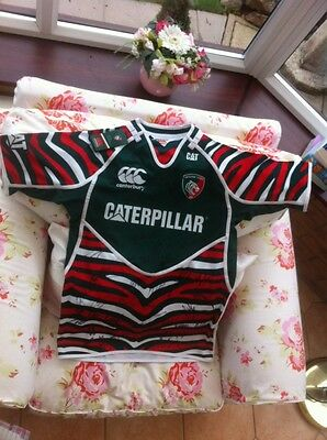 Autographed Leicester Tigers Rugby Shirt Over 40 Names 2013