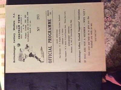 Betteshanger Colliery Welfare v Chatham Town 18/10/58 Kent league