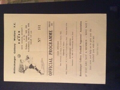 Betteshanger Colliery Welfare v Dover 8/3/58 Kent league
