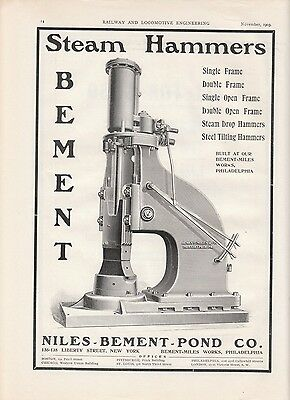1903 Niles-Bement Pond Co Philadelphia PA Ad: Bement Steam Hammers
