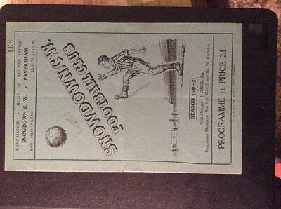 Snowdown Colliery Welfare v Margate 23/8/50 Kent league