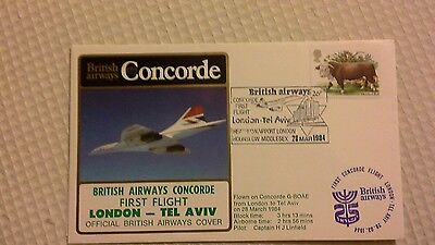 Ba Concorde First Flight London - Tel  Aviv 1984