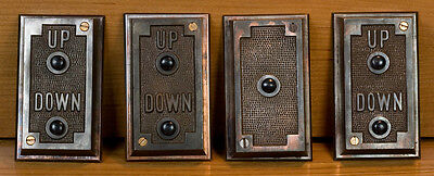 4 Vintage Early 20Th Century Elevator Hall Stations Button Pad From Boston