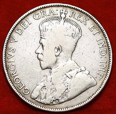 1912 Canada Silver 50 Cents Foreign Coin Free S/H
