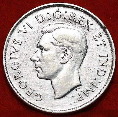 1944 Canada Silver 50 Cents Foreign Coin Free S/H