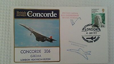 Ba Concorde 206 Flight London Heathrow-Filton 1977 Signed