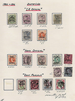 Great Britain GB Stamp Collection HV Queen Victoria Officials stamps seen