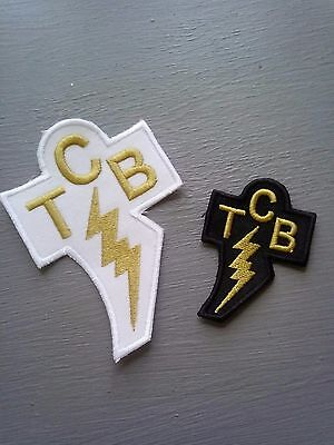 Elvis Presley Taking Care of Business embroidered patches X 2