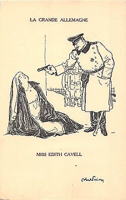 POSTCARD  MILITARY    WWI    EDITH  CAVELL   La  Grande  Allemagne