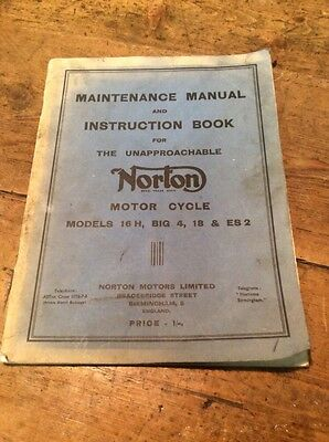 norton maintence manual and instruction book