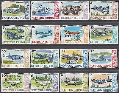 Norfolk Island 1980 Airplanes set of 16 MNH