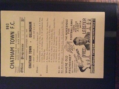 Chatham Town v Gillingham 10/9/47 Kent league