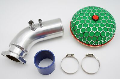 Alloy Intake 80mm Pipe + Powerflow Air Filter Kit Fit Toyota Chaser 1JZ JZX100