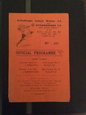 Betteshanger Colliery Welfare v Sittingbourne 6/4/53 Kent league