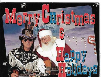 Marty Stuart & Oscar Lee Full Color 1994 Christmas Card Excellent Condition Rare