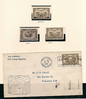 Canada Stamp Collection HV umm & mm George V Air Mail & 1930 Air Cover
