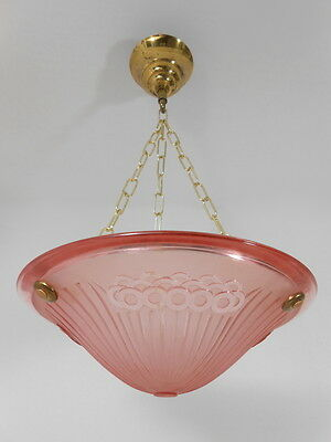Beautiful & Original Art Deco Chandelier Ceiling Lamp From France 1930s