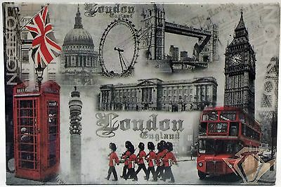 London England Fridge Magnet With 9 Famous Images Perfect Gift New And Packaged