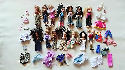 Bundle Of 14  Lil  Bratz Dolls With Accessories