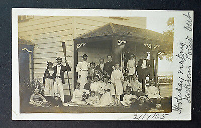 Holiday Making 1905 at Jacksons Point. Ontario Canada Children Parents, costumes