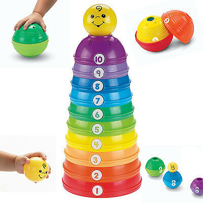 Baby Toy Stacking Developmental Stack Fisher Price Roll Cups Toddler Infant Toys