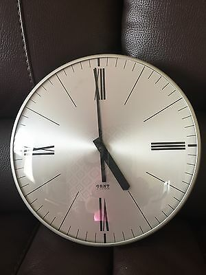 Gent Of Leicester Electric Clock Factory Office School 1960s Vintage