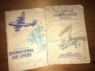Player's Cigarette Card Albums - Aeroplanes (Civil) & International Air Liners