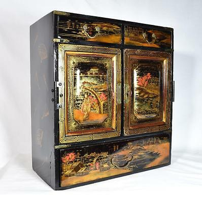 Large Japanese Antique Tansu Table Cabinet, C.1890s/1900s