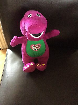 """I Love You Singing BARNEY Plush Soft Toy 9"""" Tall Character"""