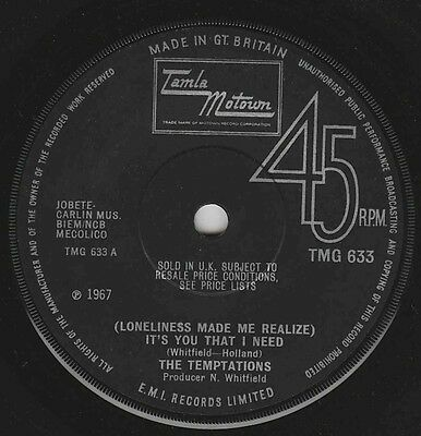 The Temptations - Loneliness Made Me Realize - Uk Motown Original