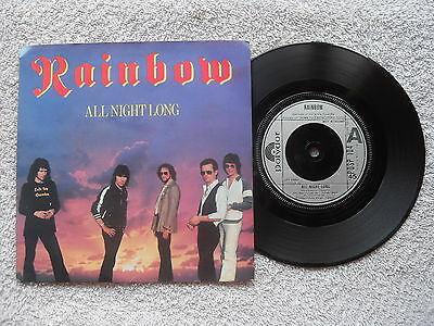 "RAINBOW ALL NIGHT LONG POLYDOR RECORDS UK 7"" VINYL SINGLE in PICTURE SLEEVE"