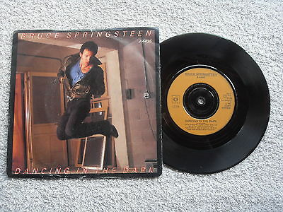 "Bruce Springsteen Dancing In The Dark Cbs Records 7"" Vinyl Single Picture Sleeve"