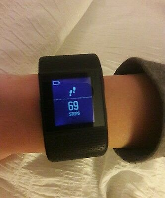FITBIT Surge Smart Watch Black Small GPS  No charger