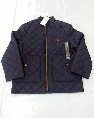 BNWT Polo Ralph Lauren Boys Navy Quilted Coat - 7 Years