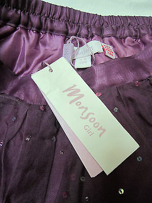 Monsoon - BNWT - Sequin Silk Special Occasion - Party Skirt - Age 4-6 yrs