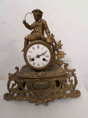 "1890 French Ormolu Statue Clock ""as found"" For Restoration"