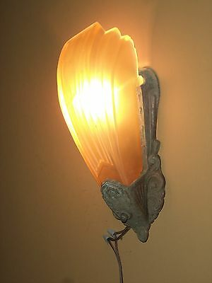Antique Art Deco Slip Shade Wall Sconce