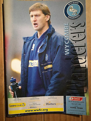 Wycombe Wanderers matchday programme. Wycombe v Yeovil Town 2004