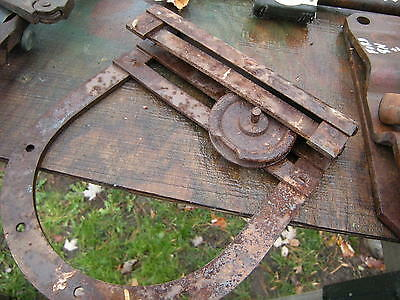 Antique Barn Door Roller, Primitive Decor,horse Stall, Wall Art, Rusty Gold