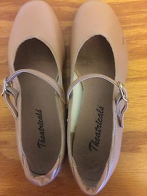 Excellent Condition - Girls Beige Tap Shoes Size 2M