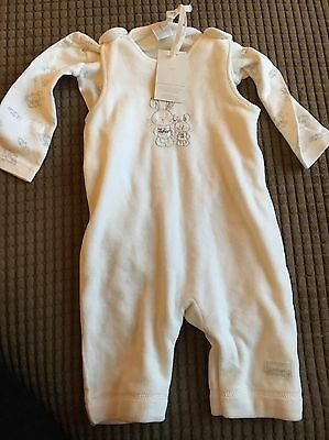 Junior J White Baby Outfit 3-6 Months