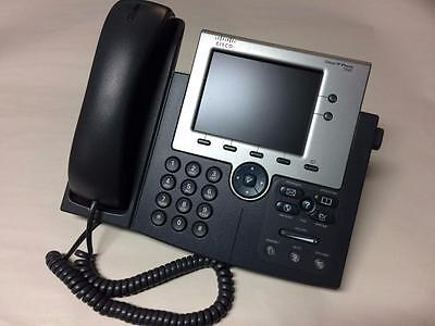 Cisco Cp-7945G Color Voip Display Phone W/ Handset & Base (No Ac Adapter)